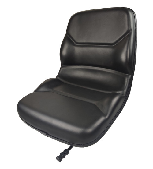 Contoured High Back Vinyl Seat with Slides