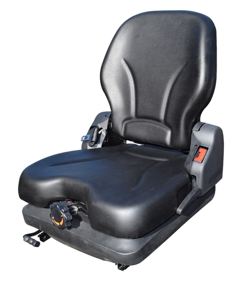 High-Back Vinyl Fold Down Skid Steer/Fork Lift Seat with Low Profile Suspension