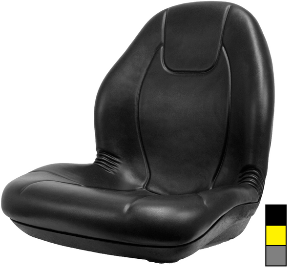 Deluxe High Back Vinyl Seat Black, Yellow or Gray