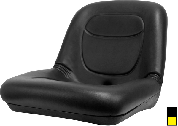 Low Back Vinyl Seat Black Or Yellow