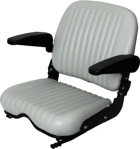 High Back Wide Base Seat W/Armrests and Slides