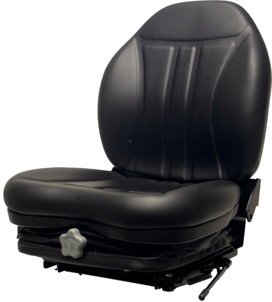 High-Back Vinyl Skid Steer Seat with Integrated Suspension