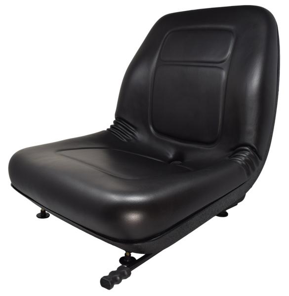 Ultra High Back Vinyl Seat Black with Slides