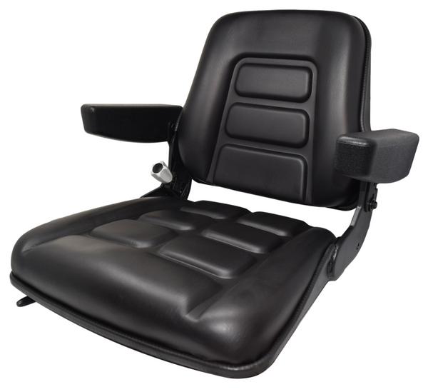High-Back Vinyl Seat with Armrests and Slides
