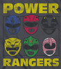 Image Closeup for Power Rangers Baby Creeper - Ranger Heads