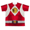 Image for Power Rangers Youth T-Shirt - Sublimated Red Ranger Emblem 100% Polyester