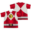 Back Image for Power Rangers Youth T-Shirt - Sublimated Red Ranger Emblem 100% Polyester