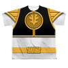 Image for Power Rangers Youth T-Shirt - Sublimated White Ranger Uniform 100% Polyester