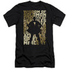 Image for Shazam Movie Premium Canvas Premium Shirt - Silhouette