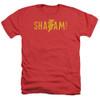 Image for Shazam Movie Heather T-Shirt - Flat Logo
