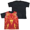 Image for Shazam Movie Sublimated Youth T-Shirt - What's Inside Black Back