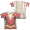 Image for Shazam Movie Sublimated T-Shirt - Uniform 65% Polyester/35% Cotton