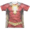 Front image for Shazam Movie Sublimated T-Shirt - Uniform 65% Polyester/35% Cotton