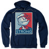 Image for Popeye the Sailor Hoodie - Strong Motorcycle