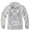 Rocky Zip Up Back Print Hoodie - Balboa/Creed Fight Poster