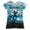 Image for Falling Skies Girls T-Shirt - Sublimated Battle 100% Polyester