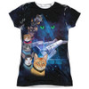Front image for Star Trek Cats Girls Sublimated T-Shirt - Cast of Cats