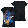 Image for Star Trek Cats Girls Sublimated T-Shirt - Cast of Cats Black Back