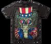 Image for Grateful Dead Subway T-Shirt - Patriotic Skelly Big Print