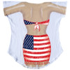 Back image for Flag Sarong Cover Up T-Shirt