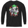 Image for Batman Youth Long Sleeve T-Shirt - Joker Four of a Kind