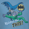 Image Closeup for Batman Youth T-Shirt - Riddler Riddle Me This