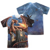 Image Closeup for Anne Stokes Sublimated T-Shirt - Dragon's Fury