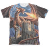 Image detail for Anne Stokes Sublimated T-Shirt - Dragon's Fury