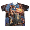 Image for Anne Stokes Sublimated Youth T-Shirt - Dragon's Fury 100% Polyester