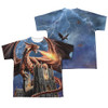 Image Closeup for Anne Stokes Sublimated Youth T-Shirt - Dragon's Fury