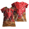 Image Closeup for Anne Stokes Girls Sublimated T-Shirt - Dragon's Lair