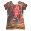 Image detail for Anne Stokes Girls Sublimated T-Shirt - Dragon's Lair