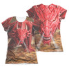 Anne Stokes Girls Sublimated T-Shirt - Dragon's Lair