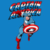 Image Closeup for Captain America T-Shirt - Red White and Blue