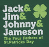 Image Closeup for Four Fathers of St. Patty's Day T-Shirt