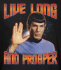 Image Closeup for Star Trek T-Shirt - Live Long and Prosper