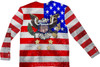 Image Closeup for American Tuxedo Costume Sublimated T-Shirt