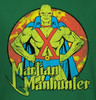 Image Closeup for Martian Manhunter Posing Girls Shirt