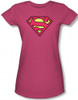 Image for Supergirl Classic Logo Girls Shirt