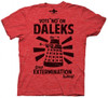 """Image for Doctor Who T-Shirt - Vote """"No"""" on Daleks"""