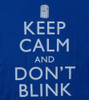 Image Closeup for Doctor Who Girls T-Shirt - Keep Calm and Don't Blink Girls T-Shirt