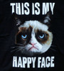 Image Closeup for Grumpy Cat This is my Happy Face T-Shirt