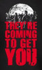 Image Closeup for Zombie T-Shirt - They're Coming to Get You Womens