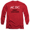 Image for AC/DC Long Sleeve Shirt - High Voltage Stencil