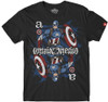 Image for Captain America Playing Card Ambigram T-Shirt