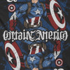 Image Closeup for Captain America Playing Card Ambigram T-Shirt