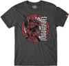 Image for Deadpool Mercenary Ambigram Heather T-Shirt