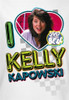 Image Closeup for Saved by the Bell I Love Kelly Kapowski Kids T-Shirt