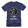 Image for Star Wars Number One Dad Navy Heather T-Shirt