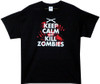 Image Closeup for Zombie T-Shirt - Keep Calm and Kill Zombies
